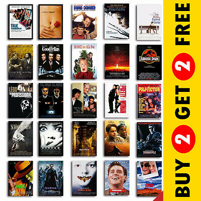 CLASSIC 90s MOVIE POSTERS A4/A3 Size Cult Best Films Print Christmas Gift