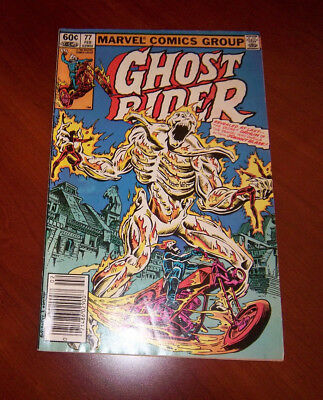 Ghost Rider Vol. 1 #77 Unleashed! w/ Johnny Blaze Demon Origin!  Great Cond 1983