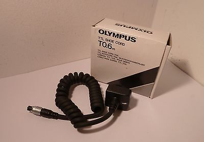OLYMPUS TTL SHOE CORD T0.6M , 60cm LONG , BOXED