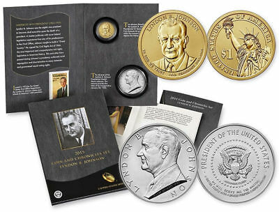 2015 LYNDON B JOHNSON * REVERSE PROOF Coin & Chronicles Set PRESIDENTIAL $1 LBJ