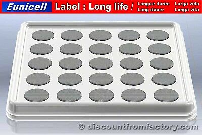 Set of 50 Batteries Lithium Button CR1620, 100% compatible with Panasonic CR1620