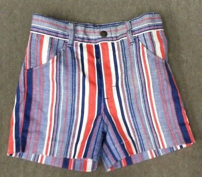 Vintage 70's Shorts JCPenney Red blue Stripe Boys Size 8