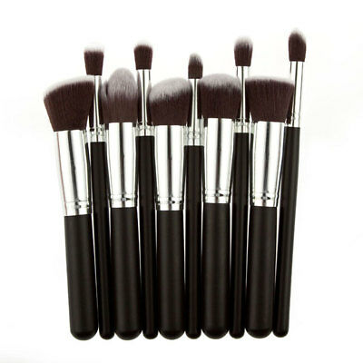 Professional 10PCs Makeup Brush Set Eyeshadow Powder Cosmetic Tool Synthetic Bag