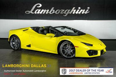 "2017 Lamborghini Huracan LP580-2 Convertible 2-Door FORGED CARBON+AD PERSONAM+STYLE PACKAGE+CRUISE CONTROL+GIANO 20""+TECHNO PACK"