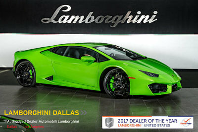 "2017 Lamborghini Huracan LP580-2 Coupe 2-Door BRANDING+RR CAM+PWR HEATED SEATS+LIFT SYS+SPORT EXHAUST+20"" GIANO WHEELS"