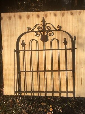 Vtg Cast Iron  GATE GARDEN YARD ART Shabby Fence Stewart iron works Cinn Ohio