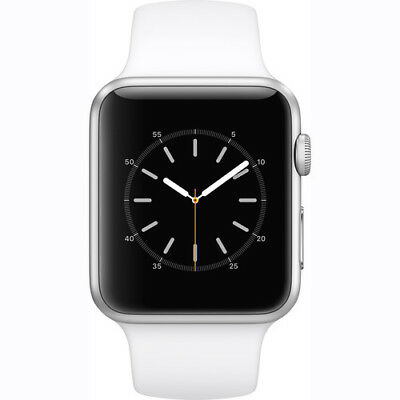 Apple Watch 2 Series 1 42Mm Silver Aluminum Case White Sport Band