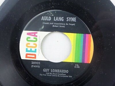 Guy Lombardo: Auld Lang Syne / Hot Time in the Old Town Tonight  [Unplayed Copy]