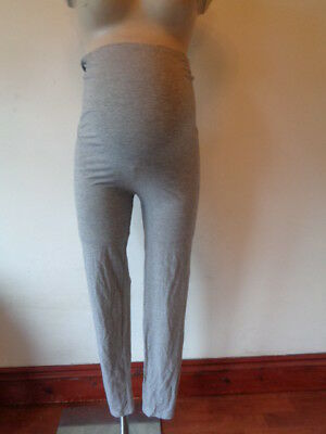 V By Very Maternity Grey Marl Over Bump Full Length Maternity Leggings Size 14