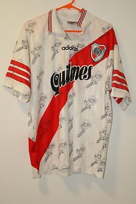 River Plate 1996-1998 Adidas Rare Home Shirt Large