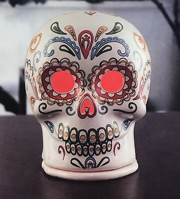 WHITE Sugar Skull Wax Warmer FULL SIZE Dia de los Muertos - Day of the Dead NEW