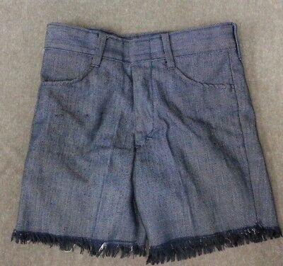 Vintage 70's Shorts Boys Size 12 Blue Sears Cut Offs