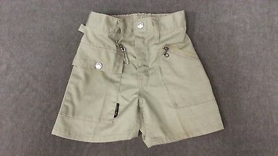 Vintage 70's Corn Cobber Shorts Boys Size 5 / 6 Tan Khaki Zipper Pocket