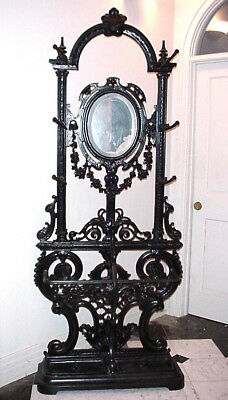 FRENCH ANTIQUE HALL TREE from VICTORIA'S SECRET CAST IRON 19TH CENTURY HAT RACK