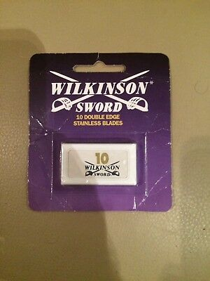 Wilkinson Sword Double Edged Stainless Razor Blades (10 Pack)