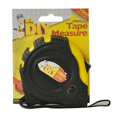 10m Measuring Tape Broad Buddy Measure 22mm Wide Blade Max Tape Easy Read UK