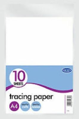 Pack of 10 A4 Tracing Paper Sheets Arts & Crafts Hobbies School