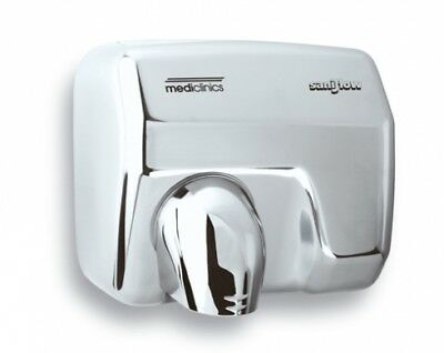 Mediclinics Saniflow E05ac Bright Polished Stainless Steel Hand Dryer