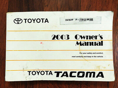 2006 toyota tacoma owners manual picclick rh picclick com 2003 toyota tacoma owners manual 2003 toyota tacoma owners manual free