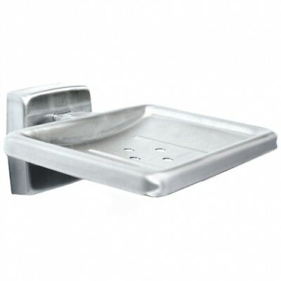 Bradley Soap Dish Stainless Steel Silver Drain Hole
