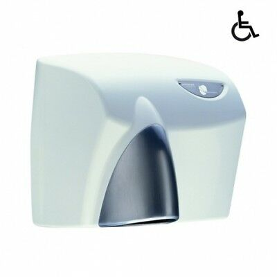 Jd Macdonald Autobeam Automatic Hand Dryer White With Satin Chrome Nozzle