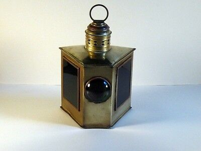 Antique Porter Ny Combination Port Starboard Bow Brass Yacht Lantern