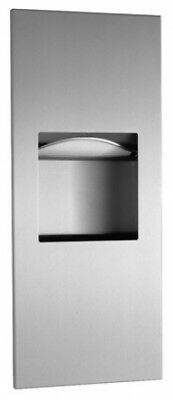 Bobrick Trimline  Paper Towel Dispenser and Waste Receptacle 6L Silver Recessed