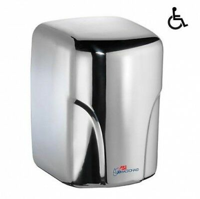 JD MACDONALD TURBO-DRI  High Velocity Automatic Hand Dryer Polished