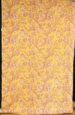 "52"" wide Fine Vintage French Chinoiserie design Textile.(sold by yard-Min 5 yds)"