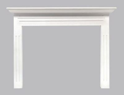 "The Newport 48"" Fireplace Mantel MDF in White Paint"