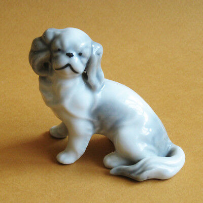 Dog Figurine Japanese Chin Porcelain Ceramic Japan