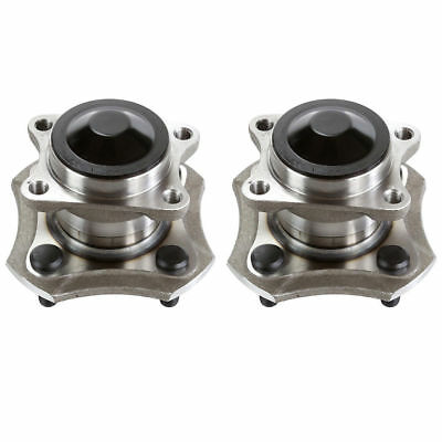 Pair Rear Wheel Hub Bearing Assembly for 2003 2004 2005 Toyota Echo EXCEPT ABS
