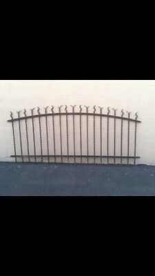 ANTIQUE WROUGHT IRON FENCE PANEL MID 19TH C. DECORATIVE . GARDEN PANEL 8 foot