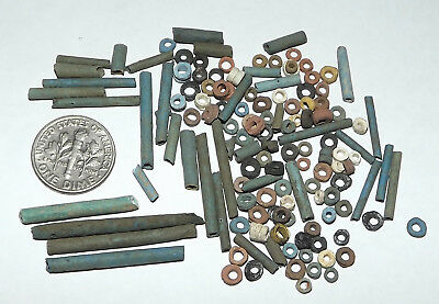 More than a Hundred 2500 Year old Ancient Egyptian Faience Mummy Beads (#G3665)