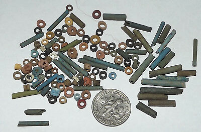 More than a Hundred 2500 Year old Ancient Egyptian Faience Mummy Beads (#G3663)