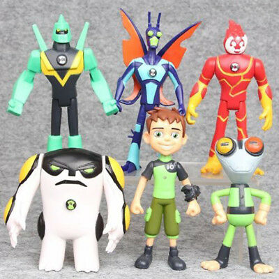 Ben 10 6 PCS Action Figure Character Toys Ultimate Alien Grey Matter Kineceleran