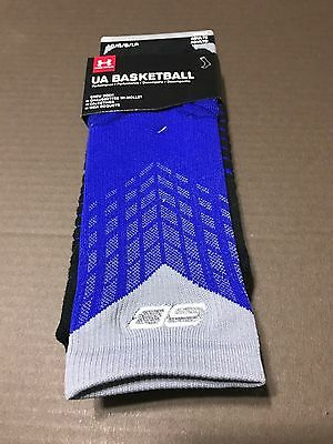 9-12.5 $20 UNDER ARMOUR STEPHEN CURRY SC30 DRIVE SOCKS 1292879-100 WARRIORS L