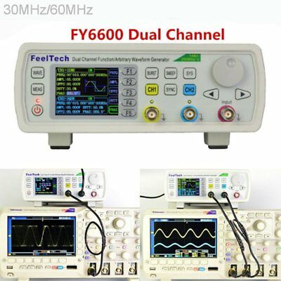 FY6600 15-60MHz Feel Tech Function Arbitrary Waveform Pulse DDS Signal Generator