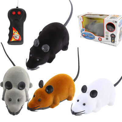 Xmas Gift Wireless Remote Control RC Electronic Rat Mouse Mice Toy For Cat Puppy