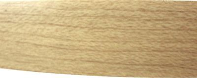 """Maple PVC edgebanding 15//16/"""" x 120/"""" with no adhesive 1//50th/"""" thick"""