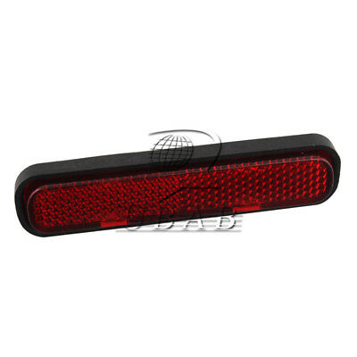 Red Oval Reflector Reflective Strips Stick Front/Rear Motorcycle ATV Dirt Bike