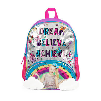 JoJo Siwa Dream Achieve Believe Backpack With 3D Hair Bow