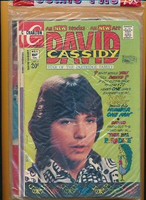 SEALED 4-pack CHARLTON Comics DAVID CASSIDY PARTRIDGE FAMILY BOBBY SHERMAN NM