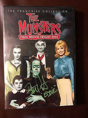Butch Patrick Twice Signed Eddie Munster The Munsters Dvd Movie