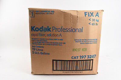 Kodak Professional Rapid Fixer Solution A 19 Litres 5 gallons NEW OLD STOCK V02