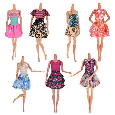 7 Pcs/Set Fashion Wedding Dress Party Gown Clothes Outfits For s Girls``