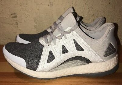 5703aa54cc5c7 Preowned Adidas Pure Boost Xpose Art Bb1734 Gry Sil Mttlc Md Gry Size 7
