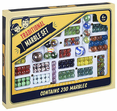 Traditional Glass Marbles Marble Set Game Includes 230 Marbles