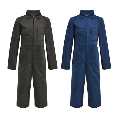 vidaXL Kid's Overalls Uniforms Contractor Work Trousers Multi Sizes Grey/Blue