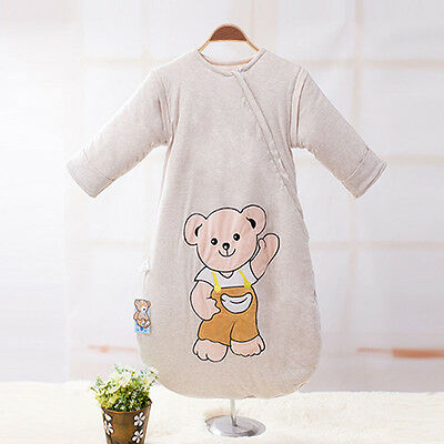 Top Warm Baby Sleeping Bag Sleepsack Travel Removable Sleeves 3.5TOG Comfy 0-24M